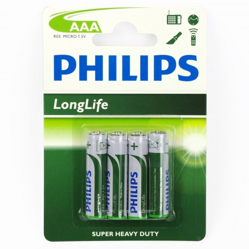 Piles Philips LR03 AAA 1,5 Volts MICRO