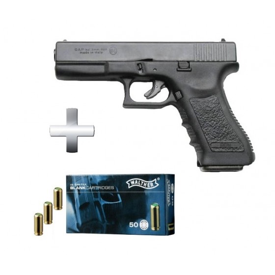 Pistolet Bruni GAP glock 17 Noir + Munitions
