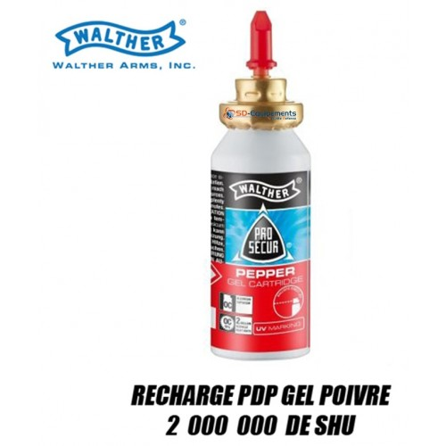 Recharge Poivre OC Gel pour Walther PDP