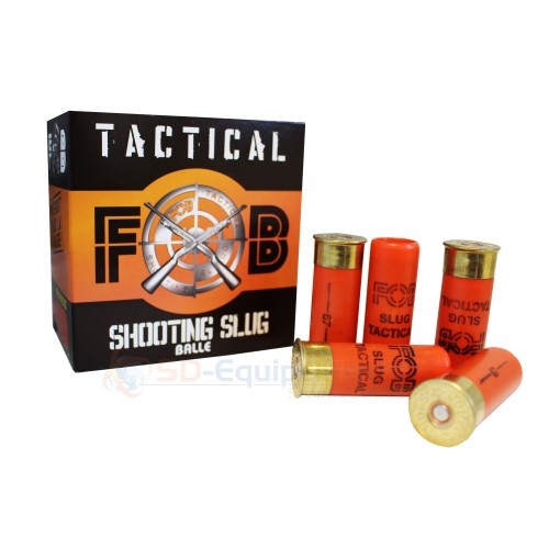 25 cartouches Tactical FOB Shooting Slug 12/67