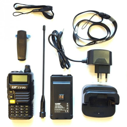 Radio CRT FP 00 Dual Band UHF-VHF Black