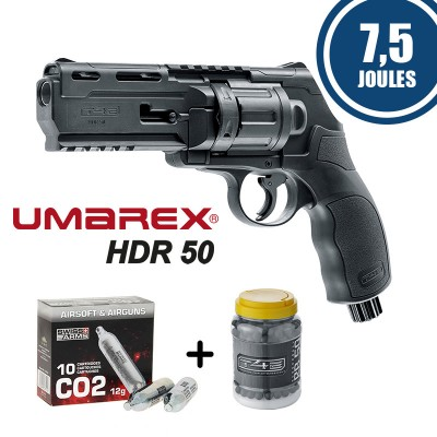 Pack Revolver CO2 Umarex T4E - HDR 50 (7.5...