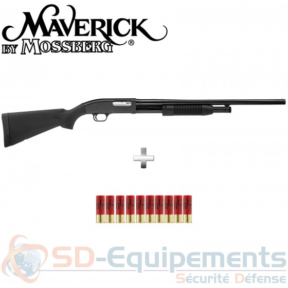 Pack fusil à Pompe Maverick MV700 Calibre 12 Model 88 61 cm
