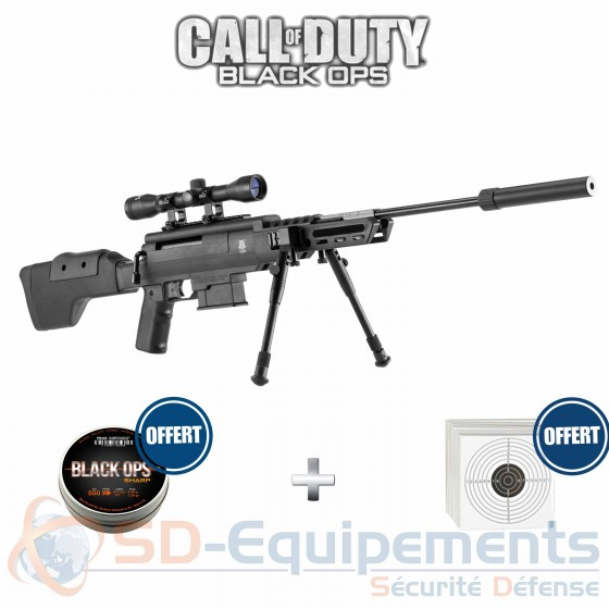 Carabine à plombs BLACK OPS Sniper Tactical cal.4,5mm (20 joules)