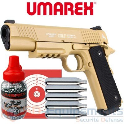 Pack Umarex Colt M45 CQBP Tan CO2 4.5 (1.9...