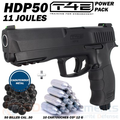 Pack Umarex T4E HDP-50 (11 joules)