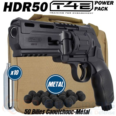 Pack Revolver CO2 Umarex T4E - HDR 50 (11...
