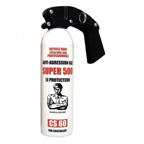 Bombe Gaz Lacrymo CS60 Super 500 - 500 ml
