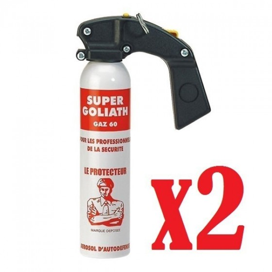 Pack de 2 Bombes Gaz CS Super Goliath 300ml